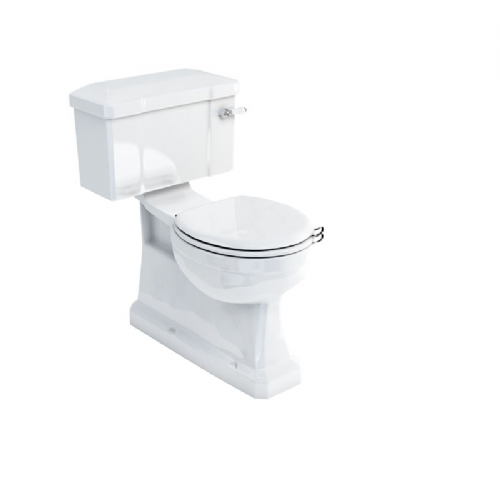 Burlington S Trap Toilet With 520mm Lever Cistern & Fittings, Optional Seats